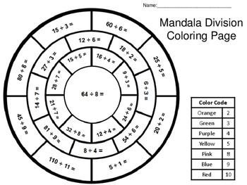 Mandala Division Coloring Page