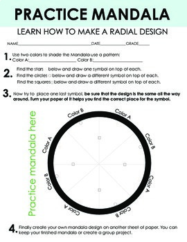 Mandala Geometric Art Lesson Community Art