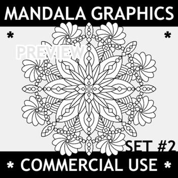 Mandala Graphics Set 2, Commercial Use Allowed