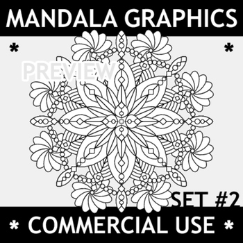 Mandala Graphics Set 2, Commercial Use Allowed