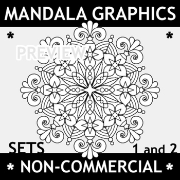 Mandala Graphics Sets 1 and 2, Non-Commercial Use