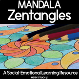 Mandala Inspired Coloring Pages for Relaxation and Self-Regulation | Zentangles