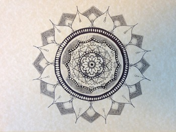 Mandala Lesson - Art Lesson - Repetition, Pattern, Variety