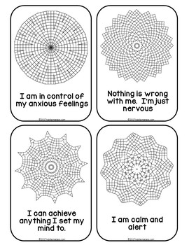 coping skills coloring pages - mandala mantras coping skills for test anxiety by kiddie