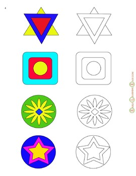 Mandala Matching and Instant Memory  Developing for Toddlers Activity