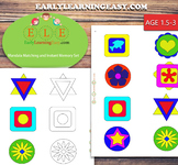 Mandala Matching and Instant Memory  Developing for Toddle