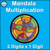 Mandala Multiplication: 2 Digits x 1 Digit