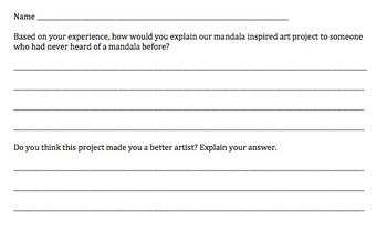 Mandala Reflection Sheet