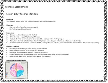 Mandala Social Emotional Learning Activities