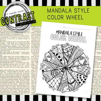 Mandala Style Color Wheel Worksheet Practice For Middle High School