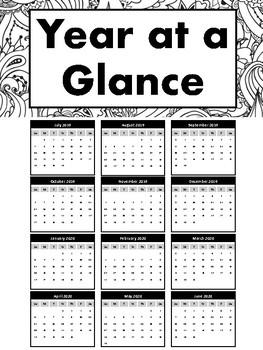 Mandala Teacher's Planner - Horizontal