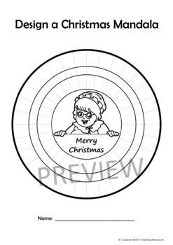 Mandala Templates – Design a mandala pattern – CHRISTMAS theme