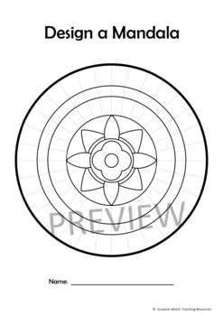Mandala Templates – Design a mandala pattern – FLOWERS in the centre