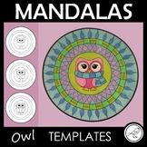 Mandala Templates – Design a mandala pattern – OWL theme