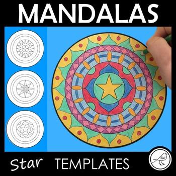 Mandala Templates – Design a mandala pattern – STARS in the centre