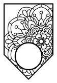 Mandala Theme 1, Classroom Decor, Blank Pennant Banner and Coloring