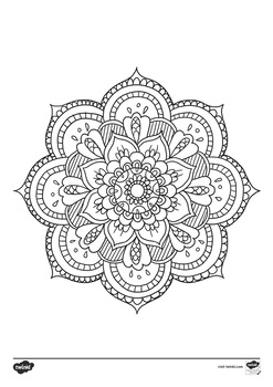 Mandala Themed Mindfulness Coloring Activity