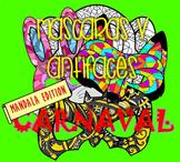 Mandala masks (Carnaval)