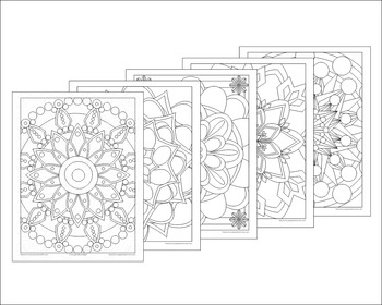 Mandalas Coloring Book by Poppydreamz