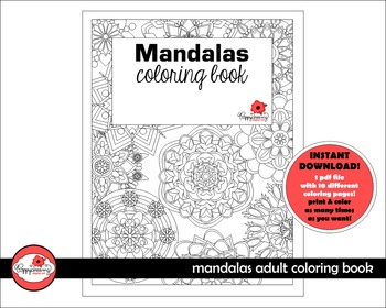 Mandalas Coloring Book by Poppydreamz