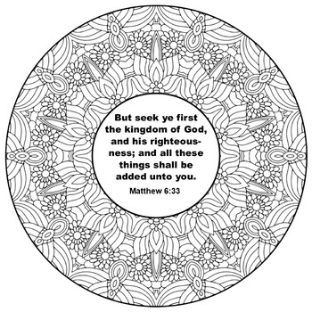 Mandalas and Bible Verses-Inspirational Mandalas Coloring Book with Bible Verses