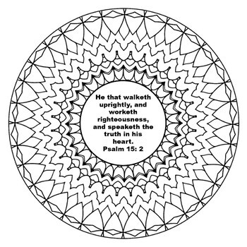Mandalas and Psalms -Inspirational Mandalas Coloring Book with Psalms