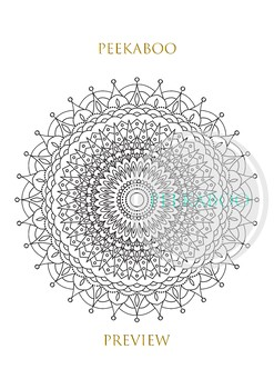 Mandalas coloring page. Printable, digital, abstract