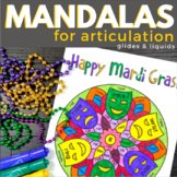 Mandalas for Articulation - Mardi Gras Glides and Liquids