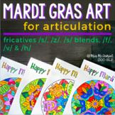 Mandalas for Articulation | Mardi Gras /s, z/, /s/ blends,