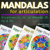Mandalas for Articulation - Mardi Gras /s, z/, /s/ blends,