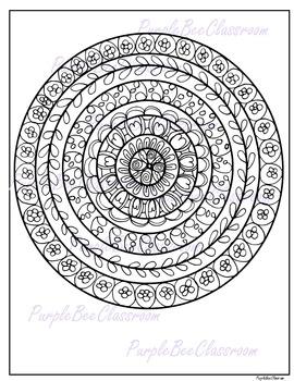 Coloring Page Mandala Coloring Page 3