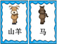 Mandarin Chinese Animal unit flashcards set II 动物单元II词卡