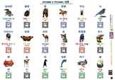 Mandarin Chinese Animals and Common Objects (108 words wit