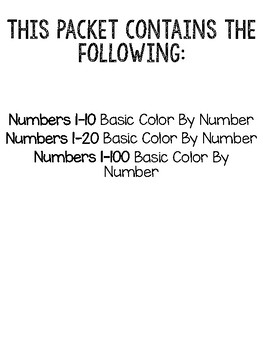 Mandarin Chinese Color By Number (1-100)