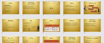 Mandarin Chinese Personal Information