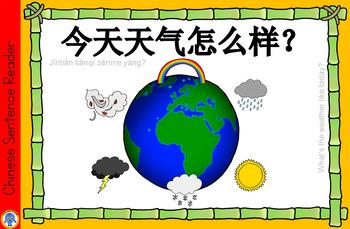 Mandarin Chinese Sentence Flashcards/A4 Book -天气/weather