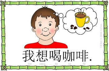 Mandarin Chinese Sentence Flashcards/A4 Book - 饮料/drinks