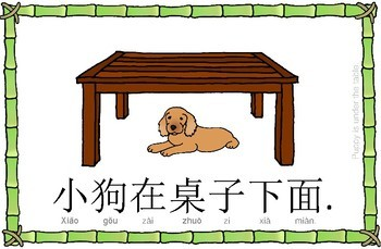 Mandarin Chinese Sentence Flashcards/A4 Book - 家具/furniture