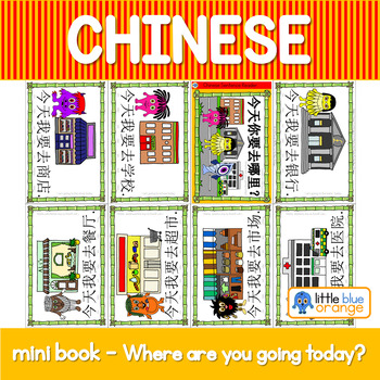 Mandarin Chinese Sentence Pattern Mini book 地方 -  where are you going?