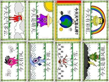 Mandarin Chinese Sentence Pattern Mini book 天气 -  what's the weather like?