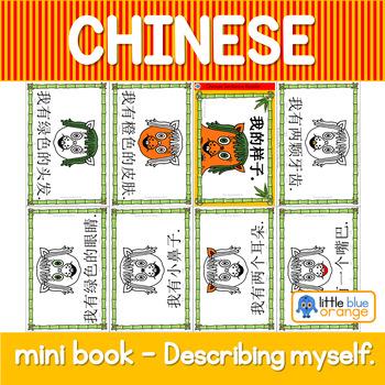 Mandarin Chinese Sentence Pattern Mini book 描述自己/describing yourself