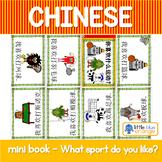 Mandarin Chinese Sentence Pattern Mini book 运动/sport - I like playing sport