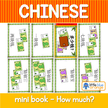 Mandarin Chinese Sentence Pattern Mini book 钱/money - how much?