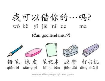 Mandarin Chinese Target Language Posters SET 2