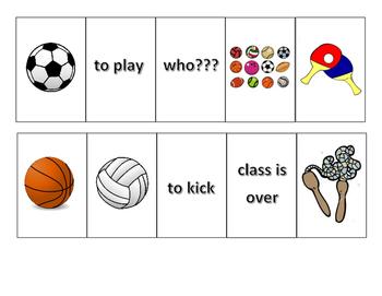 Mandarin Chinese Vocabulary Flash Cards (playing balls)