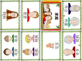 Mandarin Chinese Vocabulary Mini book - family members 家人