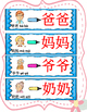 Mandarin Chinese family member words writing with differen