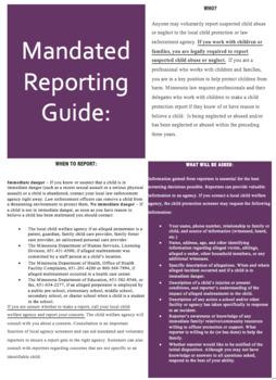 Mandated Reporter Brochure