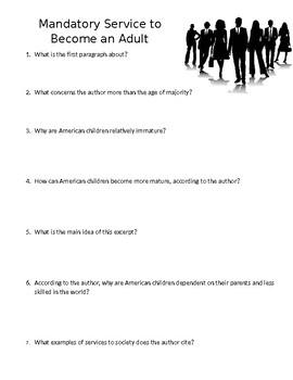 Mandatory Service Mini Quiz