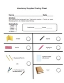 Mandatory Supplies Grading Sheet